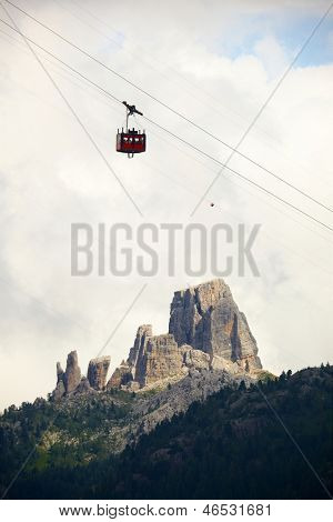 Cablecar in the Dolomites