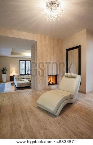 Travertine House: Armchair