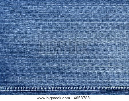 Worn blue denim jeans texture, background
