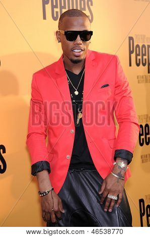"LOS ANGELES - MAY 08:  B.o.B. arrives to the ""Peeples"" World Premiere  on May 08, 2013 in Hollywood, CA"