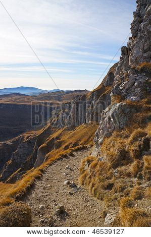 Pathway In Bucegi Mountains Of Romania