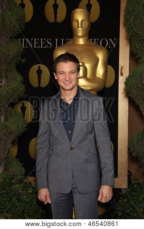 LOS ANGELES - FEB 7:  JEREMY RENNER arrives to the 83rd Academy Awards Nominees Luncheon  on Feb 7, 2011 in Beverly Hills, CA