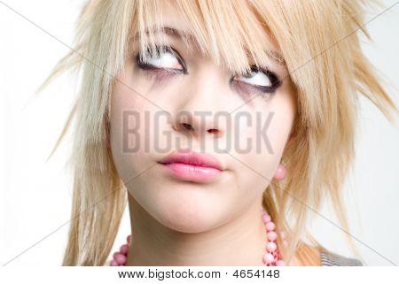 Teenage Trendy Girl In Despair