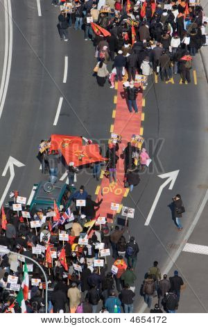 Protesta de tigre Tamil en Ginebra