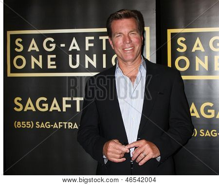 LOS ANGELES - JUN 4:  Peter Bergman arrives at SAG-AFTRA Panel Discussion With The Cast Of