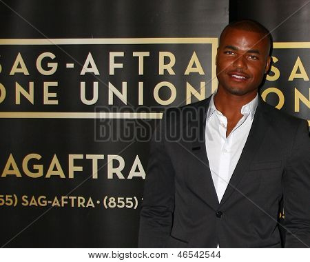 LOS ANGELES - JUN 4:  Redaric Williams arrives at SAG-AFTRA Panel Discussion With The Cast Of