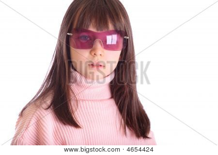 Girl With Pink Sunglasses