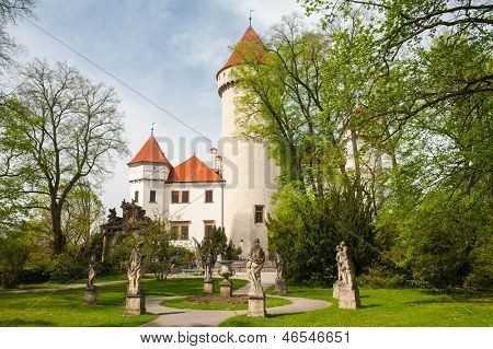 Beautiful castle Konopiste in spring, Czech Republic