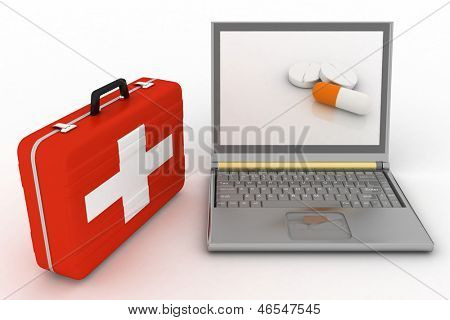 Pills for a laptop, the concept of diagnosis and repair of computers