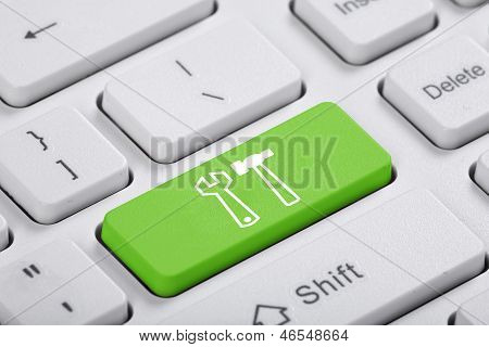 Green Key Of The Computer