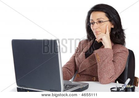Attractive And Elegant Business Woman In The Office