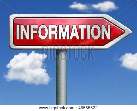 information search find online info browse the internet information button information icon searching information red road sign arrow with text and word concept