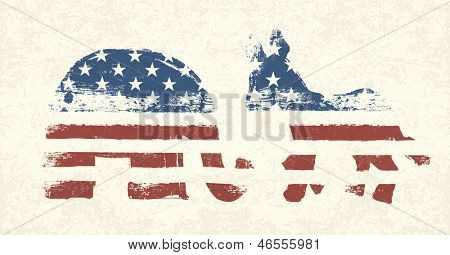 Democratic and Republican Political Symbols. Raster version, vector file available in my portfolio.