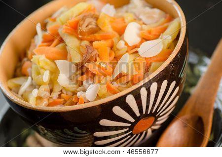 Vegan Rice Breakfast With Carrots