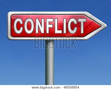 conflict management in business at work or between couple with different interest solve the problem zone and find resolution