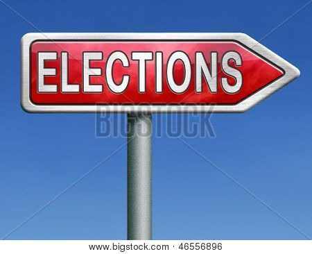 elections free election for new democracy local national voting poll red road sign arrow
