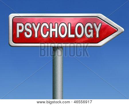 psychology psycho therapy for mental health against depression trauma, phobia schizophrenia road sign arrow