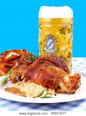 Grilled Pork With Whitish, Sweet Mustard And Beer