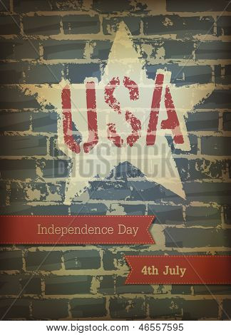 Independence day poster. Raster version, vector file available in my portfolio.
