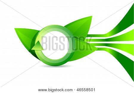 Green Leaves Composition Illustration Design