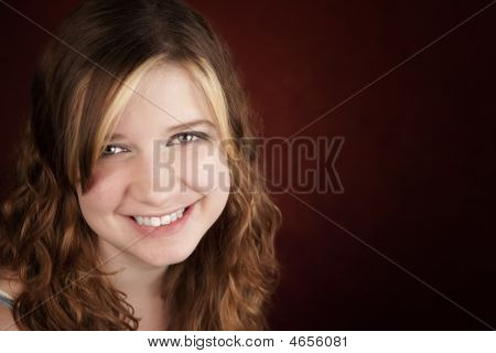 Teen Girl With Green Eyes