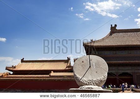 Sundial In The Forbidden City