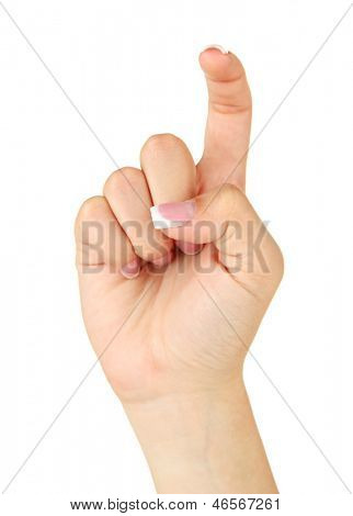 Finger Spelling the Alphabet in American Sign Language (ASL). Letter X