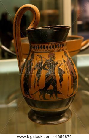 Ancient Greek Vase In British Museum In