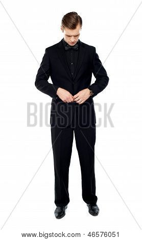 Full Length Portrait Of Young Gentleman