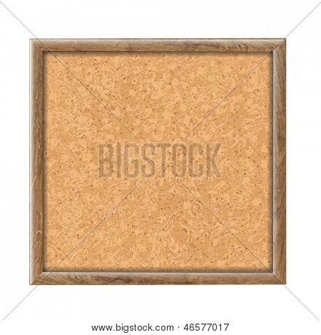 Cork Board Wooden Texture, Vector Illustration