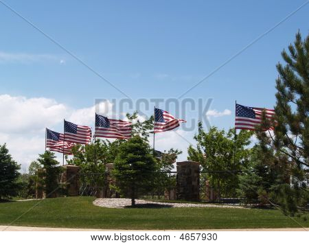 Flags Around The Center
