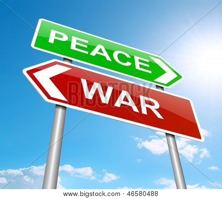War Or Peace Concept.