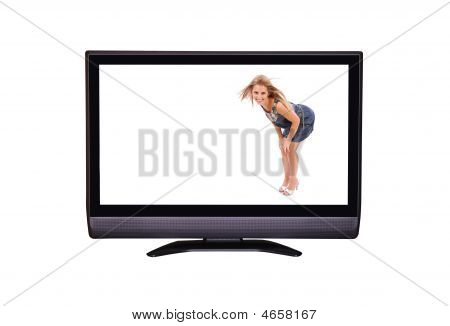 Woman In Tv