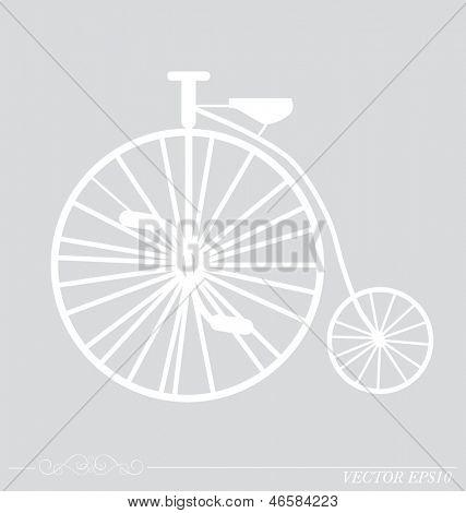 复古复古自行车的背景.矢量插画.