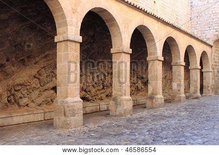 Colonnade in Ibiza town