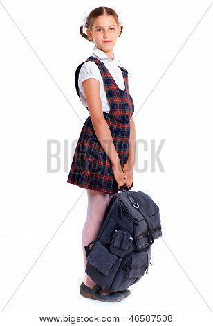 Cheerful schoolgirl
