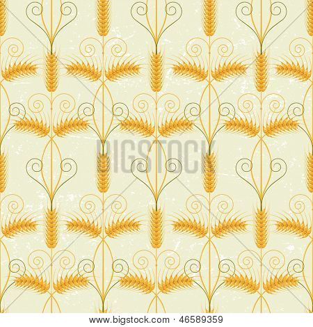 Retro-styled wheat seamless