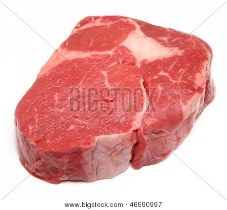 Prime raw rib-eye steak