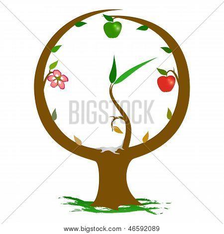 Nature Clock Seasons.eps