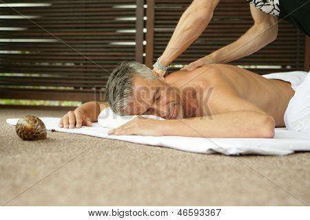 Man Having A Back Massage