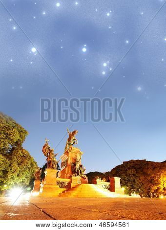 San Martin bajo las estrellas