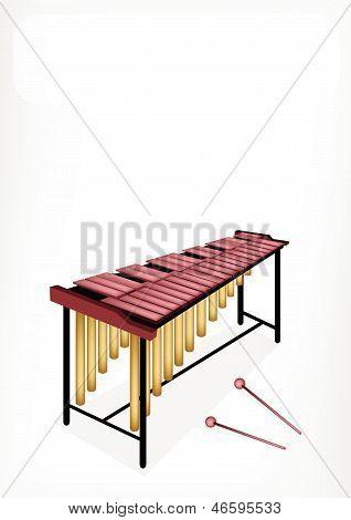 Two Retro Marimba With A White Banner