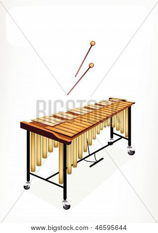 Two Retro Vibraphone With A White Banner