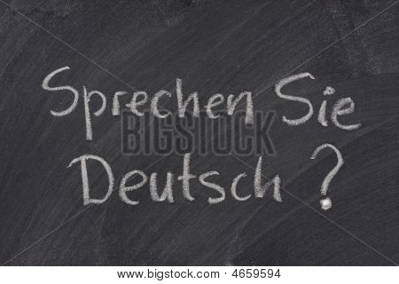 Do You Speak German Question On A Blackboard