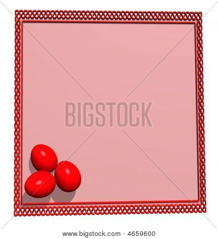 Ester Eggs And Empty Card