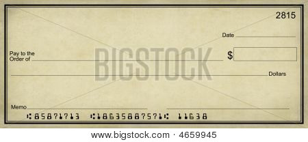 Pergament Blankoscheck