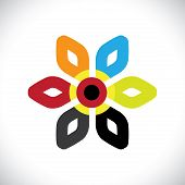 image of six-petaled  - Concept vector graphic - JPG