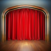 stock photo of stage decoration  - Empty stage - JPG