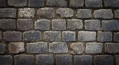 foto of cobblestone  - Background image of old cobblestone - JPG