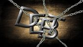 pic of debt free  - Chained with Debt; grudge background effect with chains